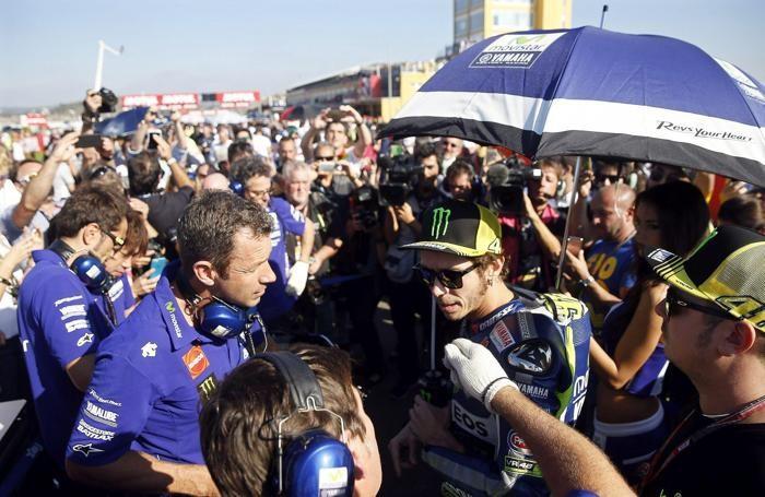 Valentino Rossi a Valencia