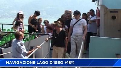 Lago d'Iseo: i passeggeri crescono del 18%