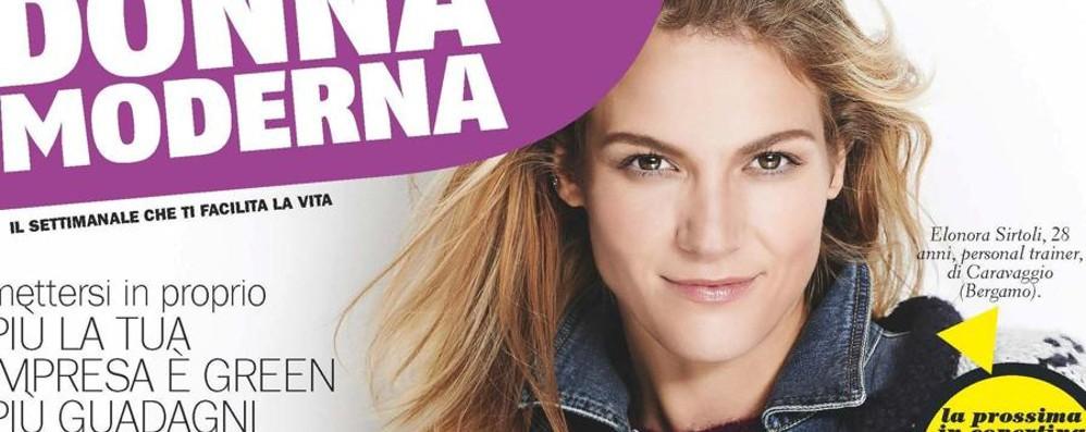 Volto bergamasco in copertina Eleonora è su Donna Moderna