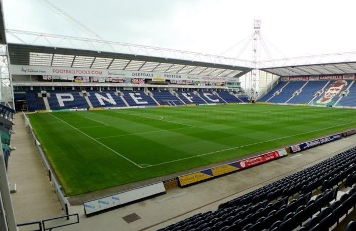 Lo stadio di Preston, in Inghilterra