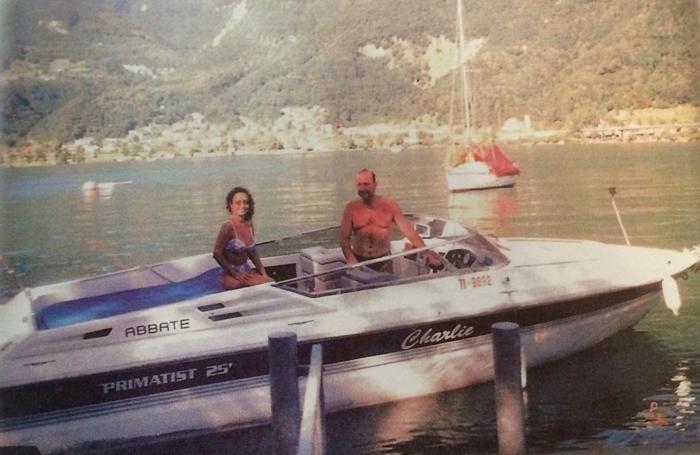 Sergio Barzasi in gita con la moglie