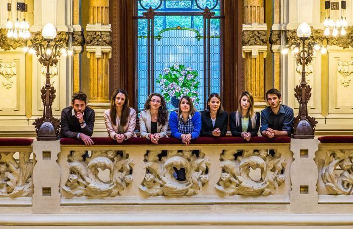 I giovani dell'associazione Oter al casinò di San Pellegrino