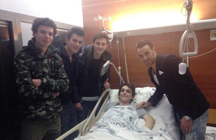 Michele Clarizia in ospedale
