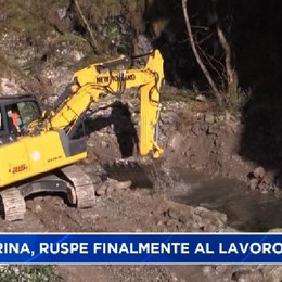 Val Serina. Finalmente ruspe al lavoro per ripristinare il ponte