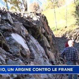 Valzurio, un vallo a protezione della strada