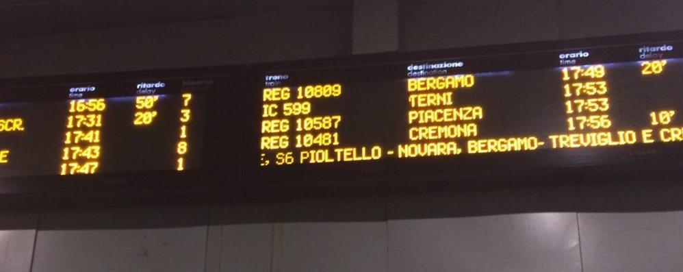 Guasto agli impianti ferroviari Ritardi sulla Bergamo-Milano