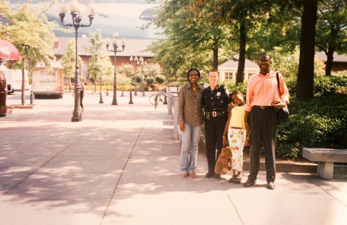 Con la mamma Salimata e il papà Abdoulaye a New York