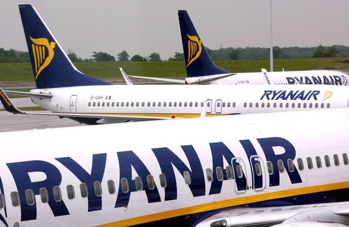 Aerei della Ryanair in un'immagine d'archivio a Orio