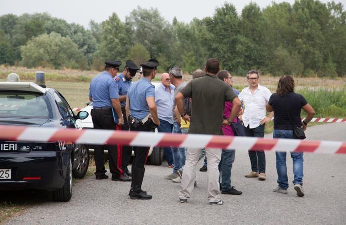 Carabinieri su luogo dell'omicidio di Ibrahim Basam