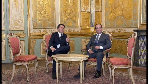 Renzi giovedì mattina da Hollande
