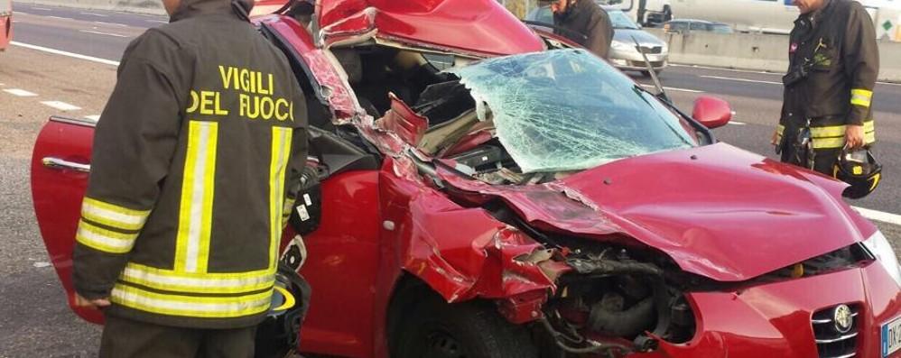 A4: scontro tra Dalmine e Capriate Traffico ora normale, tre feriti lievi