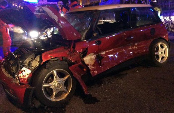 L'auto dell'incidente