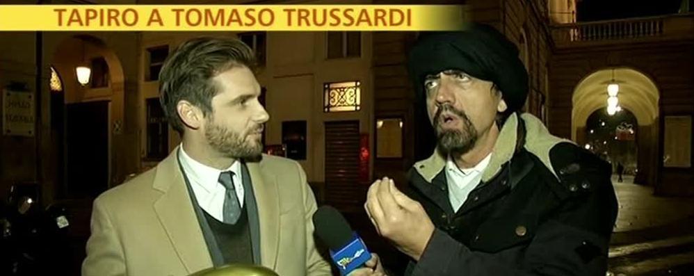Trussardi e la multa: arriva il Tapiro - Video  Lui: «Controlli giusti, ma l'approccio...»