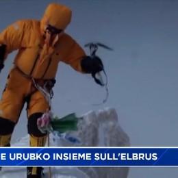 Mario Curnis e Denis Urubko insieme sull'Elbrus