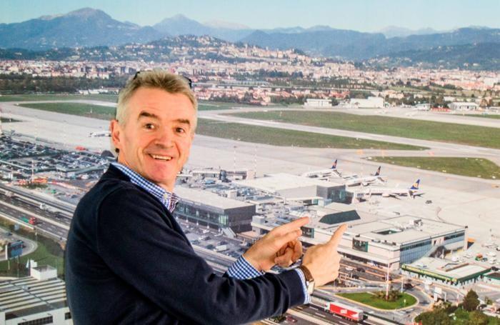 Michael 0'Leary amministratore delegato Ryanair ad Orio al Serio