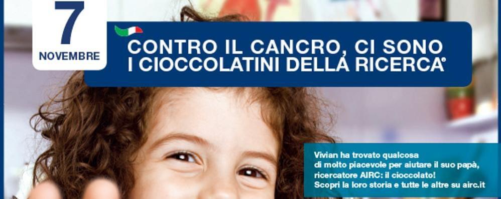 Cioccolatini contro il cancro Sabato in 25 piazze
