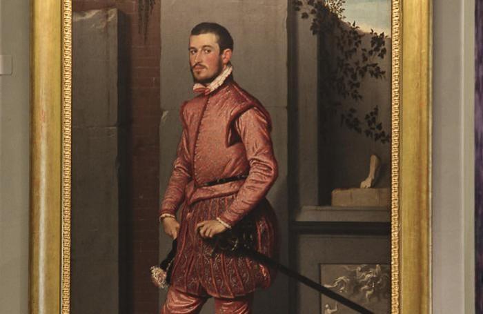 Il cavaliere in rosa di Giovan Battista Moroni