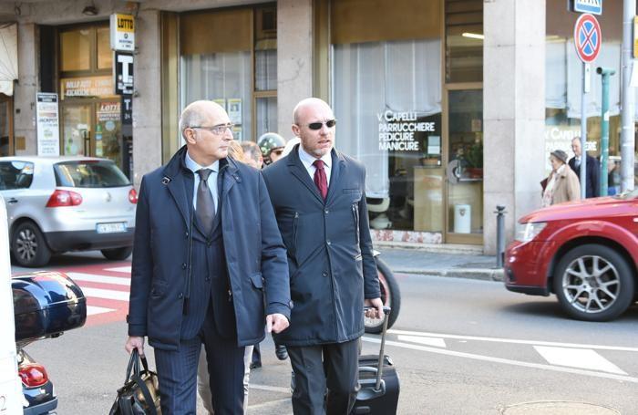 I due avvocati difensori di Bossetti, Salvagni e Camporini
