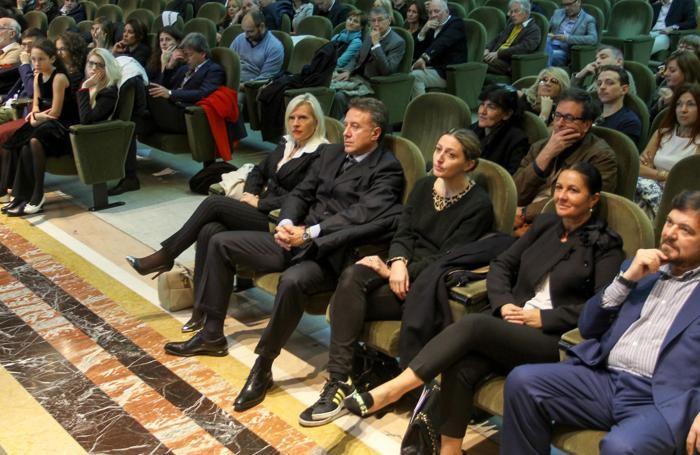 Alla presentazione della Fondazione Pio Manzù'