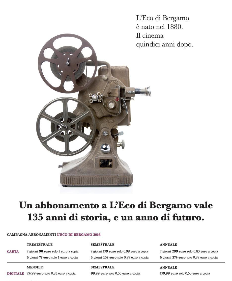 Campagna abbonamenti de L'Eco di Bergamo 2016