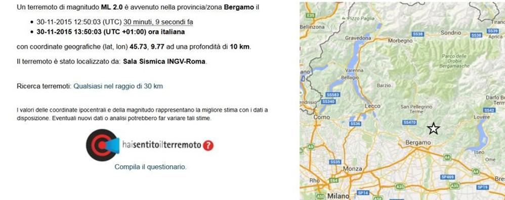 Nuova scossa di terremoto Alle 13.50, l'epicentro a Gavarno