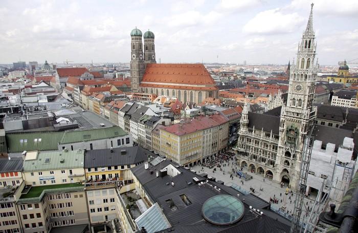 Un panorama di Monaco di Baviera