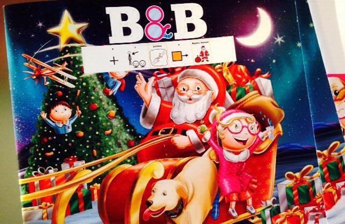 La copertina di «B&B e… l'aiutino a Babbo Natale» in versione simboli