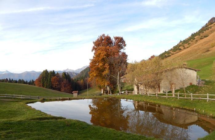 Il sentiero tra l'altopiano di Bossico e i Colli di San Fermo