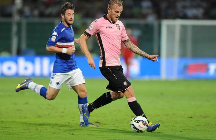 Luca Rigoni con la maglia del Palermo