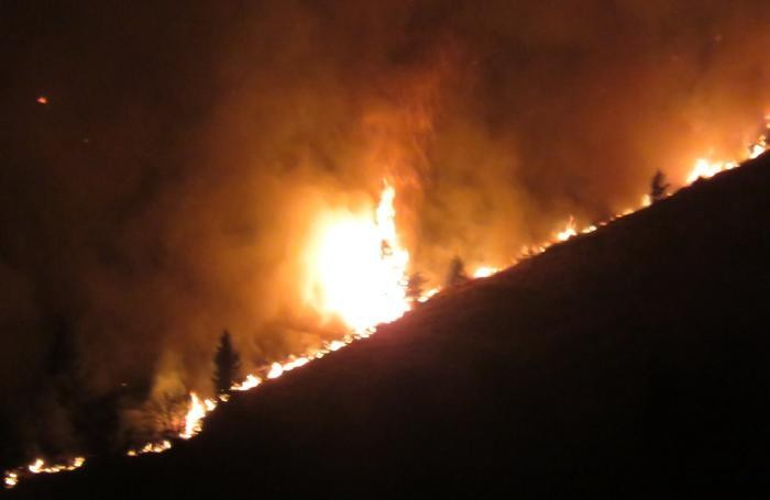 L'incendio di Valgoglio