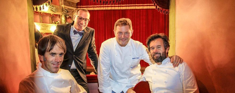 Donizetti, debutta «La Scala di seta» Serata di gala con gli chef - Foto e video
