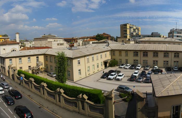 La sede di Bergamo dell'Italcementi