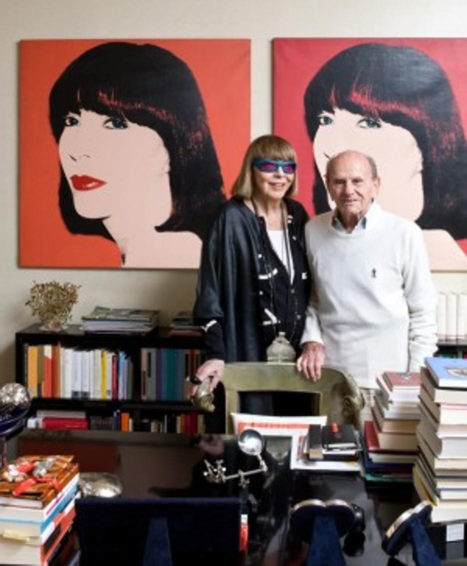 Mariuccia Mandelli con il marito
