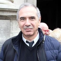 Carlo Capasa, presidente della camera della Moda, questa mattina in occasione del funerale della stilista Krizia a Milano
