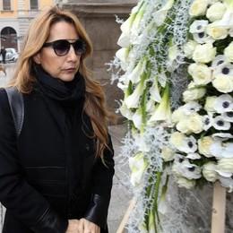 Jo Squillo questa mattina in occasione del funerale della stilista Krizia a Milano