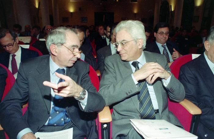Sergio Mattarella  con Giuliano Amato