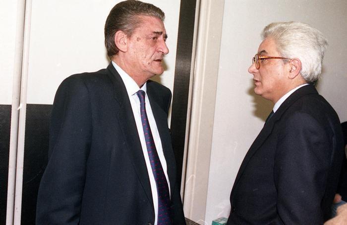 Sergio Mattarella con lo scomparso Mino Martinazzoli