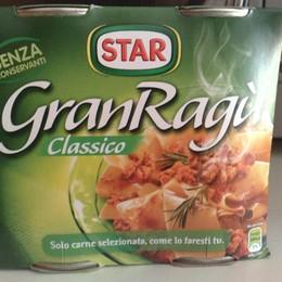 Sì etichetta origine carne piatti pronti