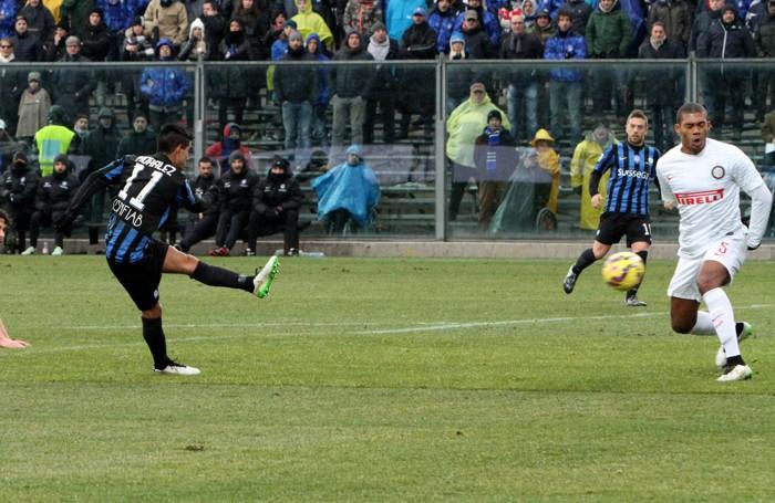 Una fase di Atalanta-Inter