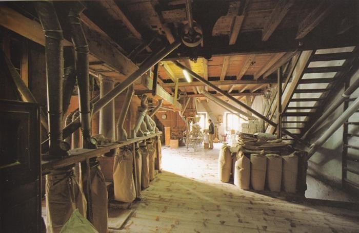 Mulino Fanzaga, l'interno