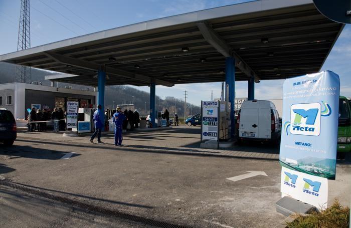 Un distributore di metano