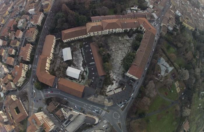 Una foto aerea dell'area