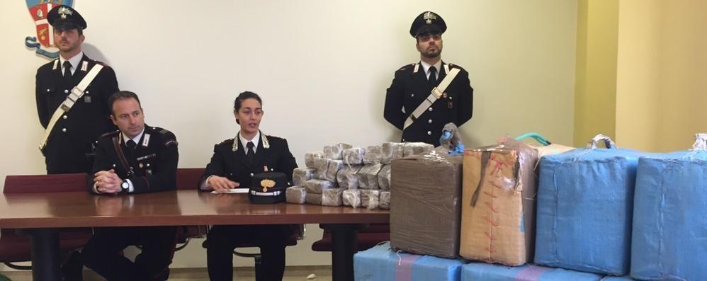 Mezza tonnellata di hashish in auto Pedinato e arrestato a Zanica - Foto