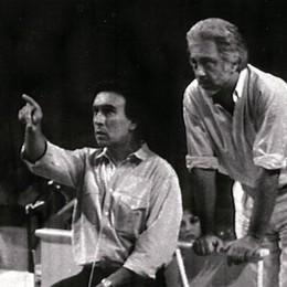 Claudio Abbado con Luca Ronconi a Pesaro