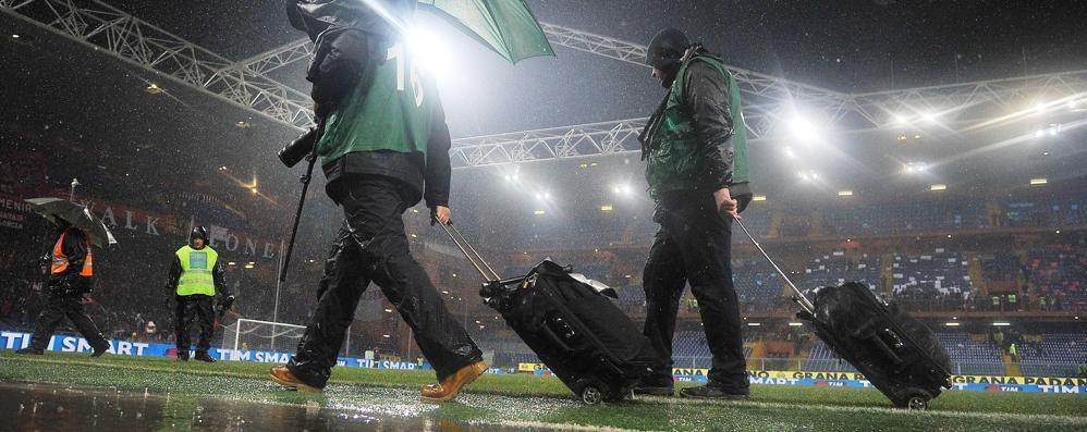 Rinviato per pioggia il derby di Genova E Atalanta-Sampdoria slitta al 1° marzo