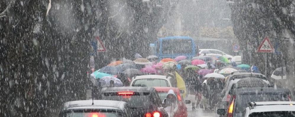 Rischio neve, moderata criticità Quaranta centimetri a Castione