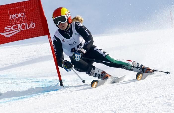 Roberta Melesi in azione durante il gigante di Coppa Europa al Monte Pora nel 2014