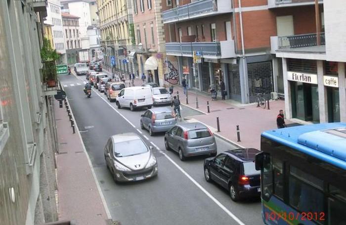 Traffico in Borgo Palazzo
