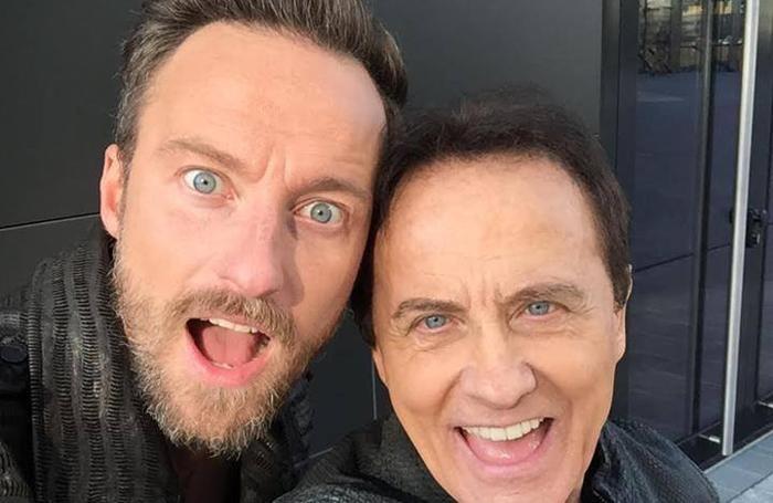 Francesco e Roby Facchinetti in un selfie
