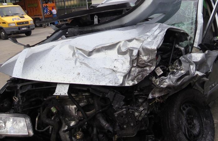 L'auto della vittima
